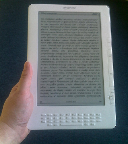 Kindle DX w dłoni