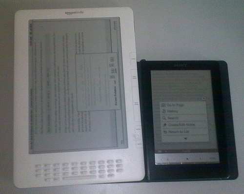 Kindle i Sony - menu